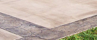 Stamp concrete driveways